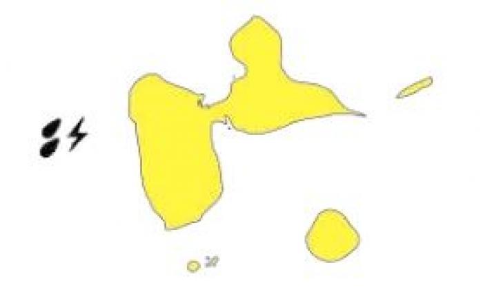 La Guadeloupe en vigilance jaune à la veille du passage d'une onde tropicale