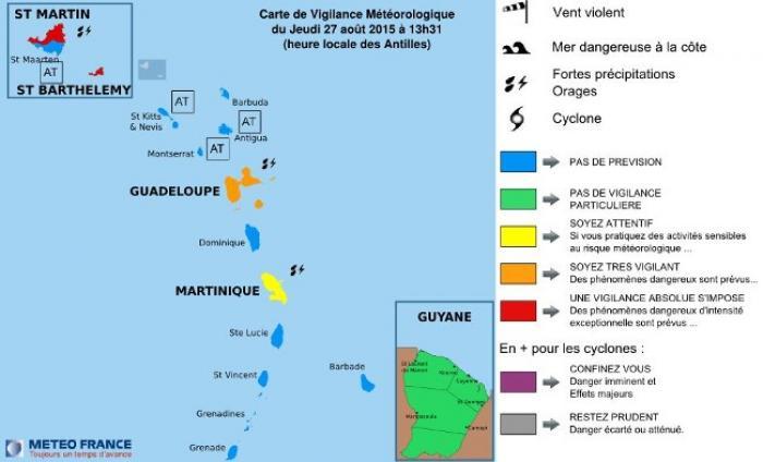 La Guadeloupe en vigilance orange, les îles du nord en vigilance rouge