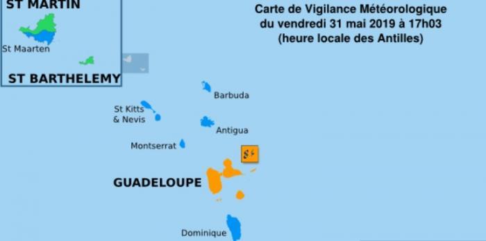La Guadeloupe en vigilance orange