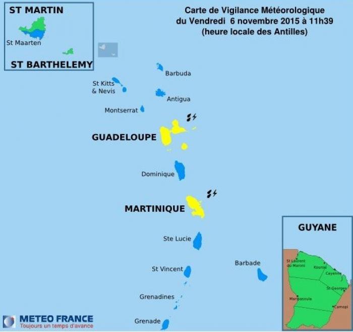 La Guadeloupe est en vigilance jaune