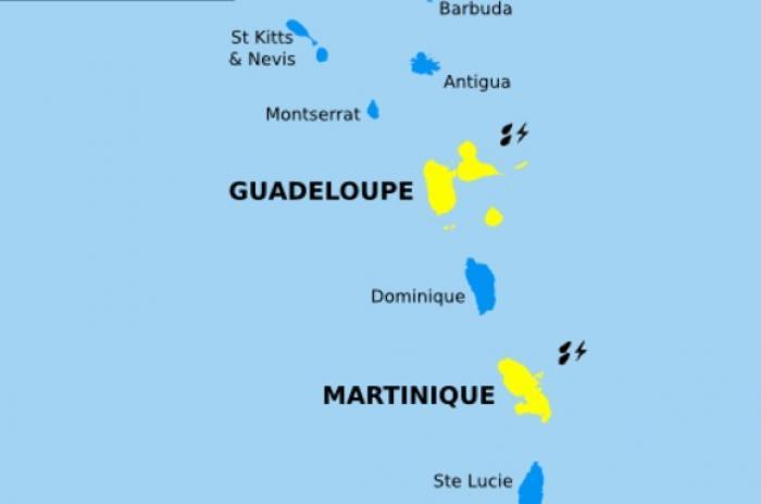 La Guadeloupe passe en vigilance jaune, la prudence est recommandée