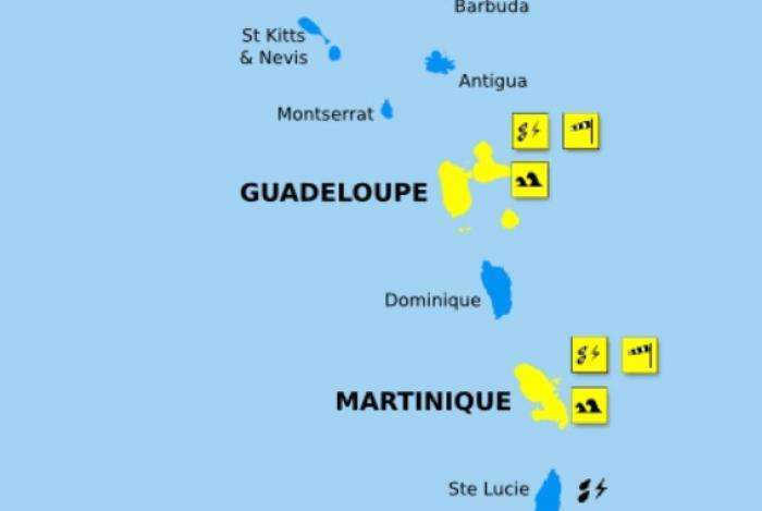 La Guadeloupe passe en vigilance jaune à l'approche de Kirk