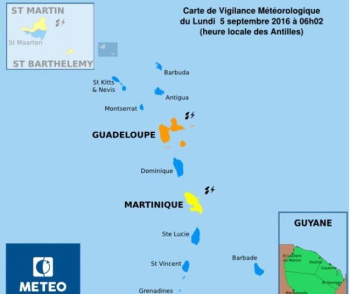 La Guadeloupe toujours en vigilance orange