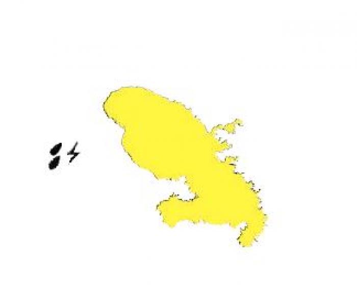 La Martinique en vigilance jaune pour fortes pluies et orage