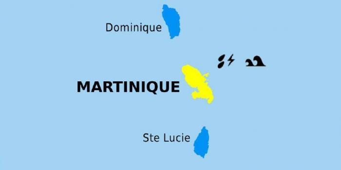 La Martinique en vigilance jaune pour mer dangereuse à la côte, fortes pluies et orages