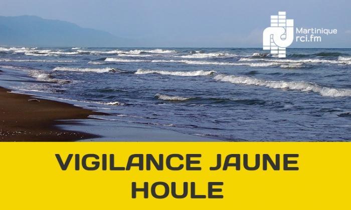 La Martinique en vigilance jaune pour mer dangereuse à la côte. Retour au vert pour la pluie