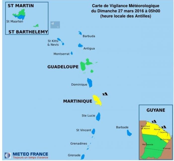 La Martinique en vigilance jaune pour mer dangereuse