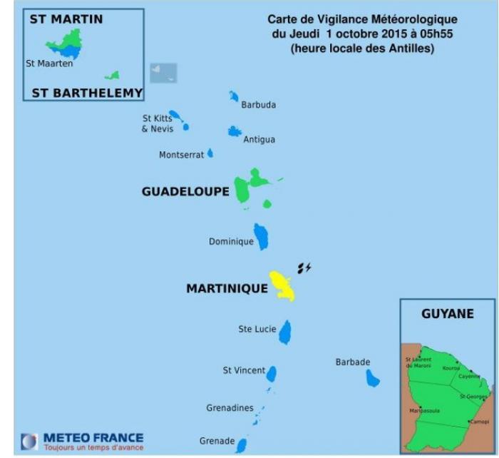 La Martinique est en jaune !