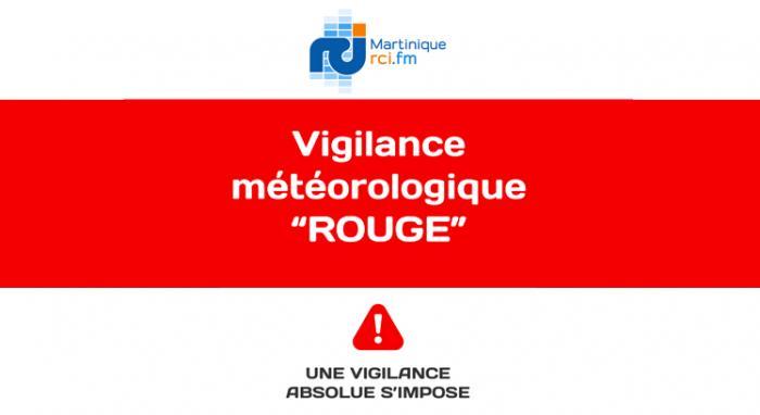 La Martinique placée en vigilance rouge pour fortes pluies et orages