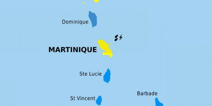 La Martinique repasse en vigilance jaune pour fortes pluies et orages