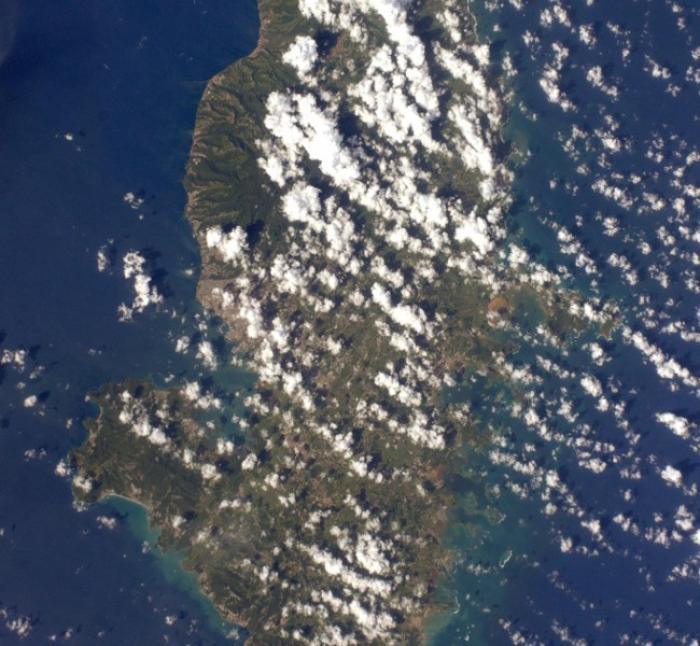 La Martinique vue de l'espace par Thomas Pesquet