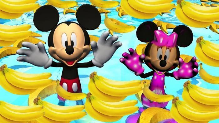 """La nouvelle banane """"enfant"""" s'associe à Mickey Mouse"""