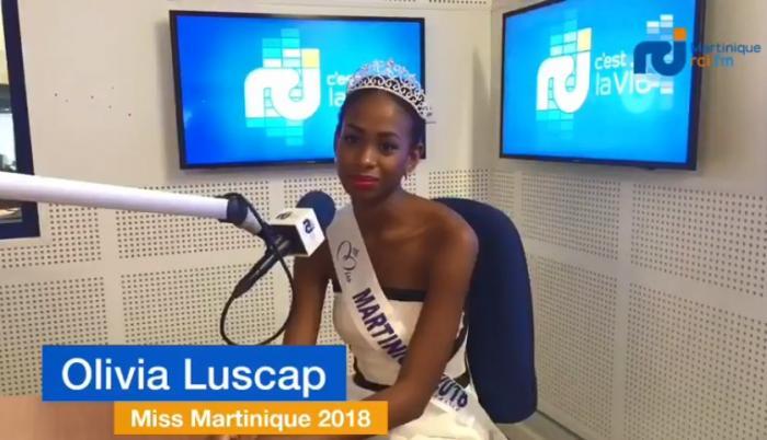 La nouvelle Miss Martinique Olivia Luscap dans les locaux d'RCI