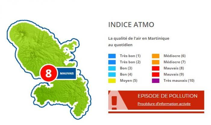 La qualité de l'air en Martinique va se dégrader, ce mercredi