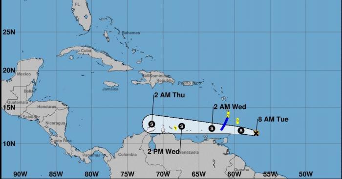 La tempête Don passera bien au sud de la Martinique