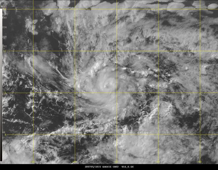 La tempête tropicale Beryl est née