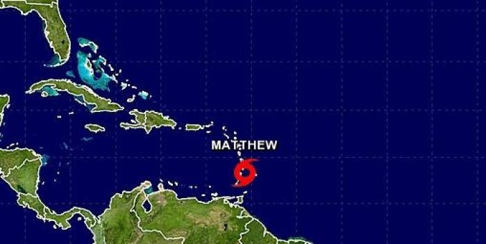 La tempête tropicale Matthew est née