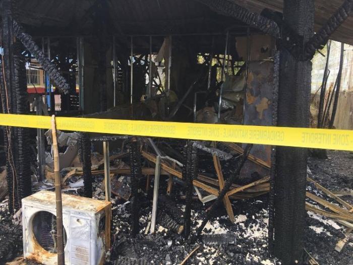 Lamentin : un incendie ravage un bâtiment du collège Appel du 18 juin