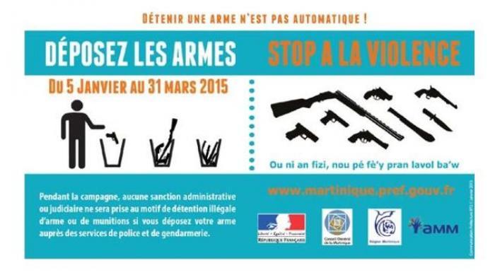 """Lancement de la 2ème édition de l'opération """"Déposez les armes !"""""""