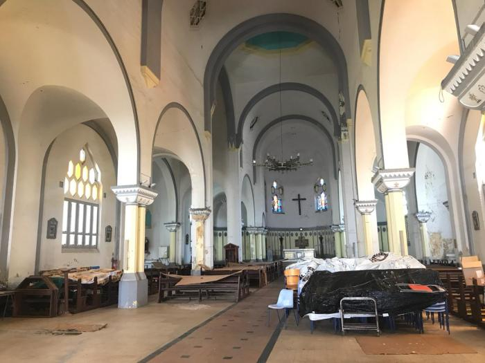 Lancement des travaux de l'église Sainte Thérèse