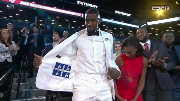 Le basketteur martiniquais Mathias Lessort drafté par les Philadelphia Sixers