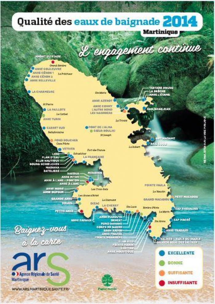 Le bulletin qualité des eaux de baignade 2014 de l'ARS !