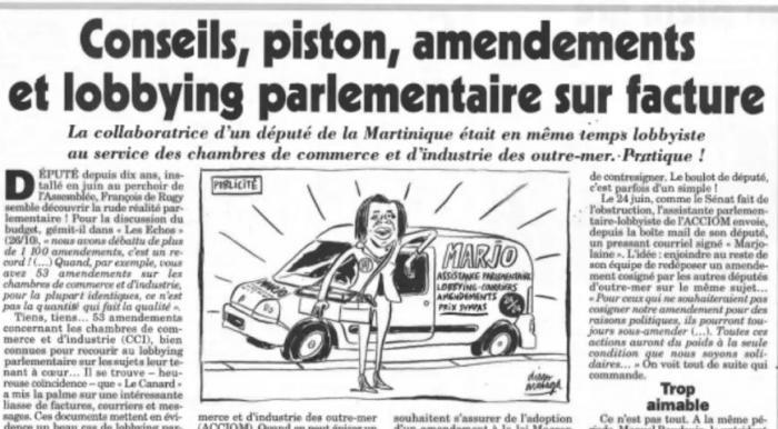 Le Canard Enchaîné épingle une ancienne attachée parlementaire de Jean-Philippe Nilor