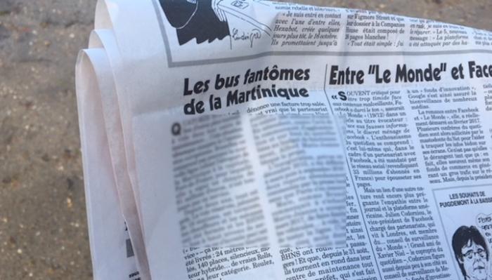 """Le Canard se paye """"les bus fantômes de la Martinique"""""""