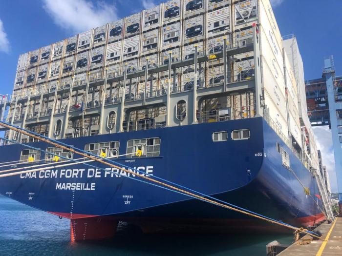 Le cargo CMA CGM Fort-de-France inauguré, ce jeudi par la ministre des Outre-mers