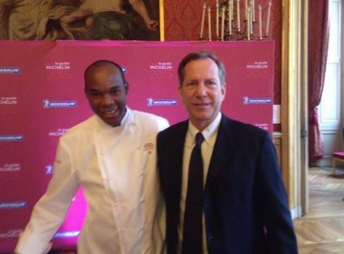 Le chef étoilé Marcel Ravin de passage en Martinique avec Petitrenaud