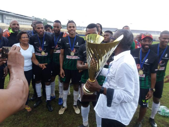 Le Club Franciscain conserve son titre de champion de Martinique de football