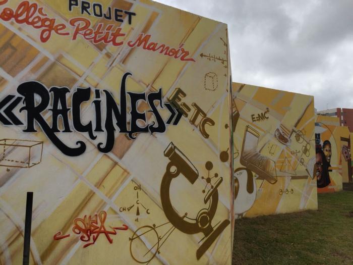 Le collège de Petit-Manoir au Lamentin a inauguré une fresque