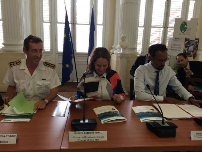 Le décret de création du parc naturel marin de la Martinique bientôt signé par Ségolène Royal