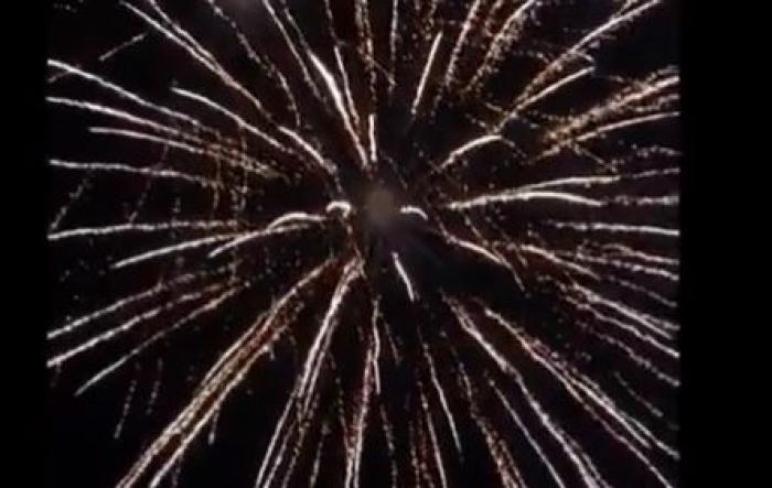 Le feu d'artifice de Sainte-Marie en vidéo