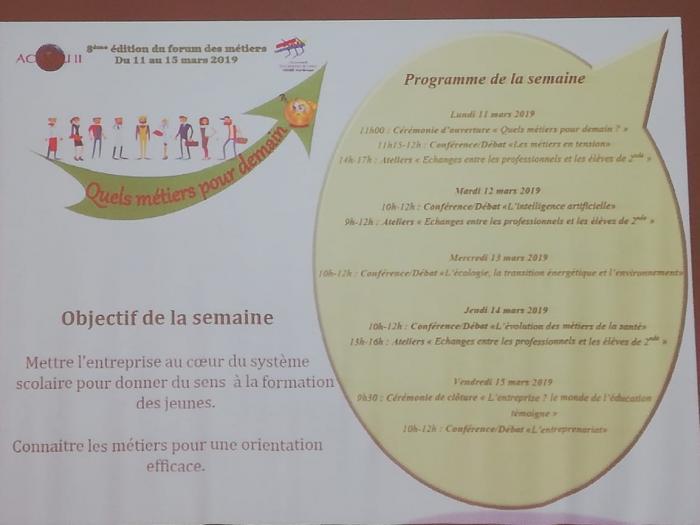 Le lycée Acajou organise son forum des métiers