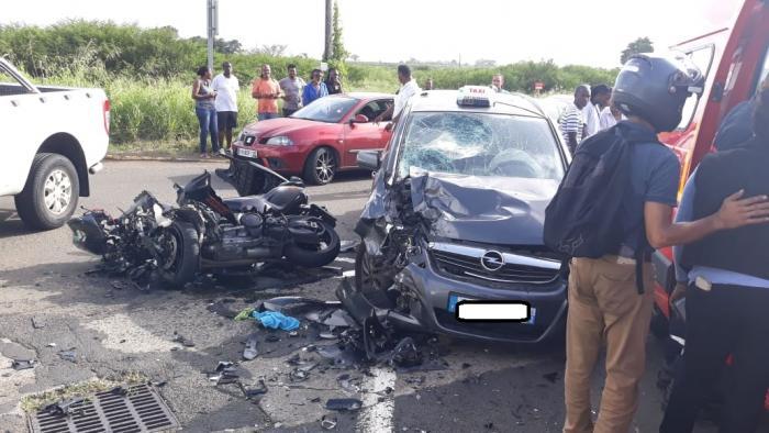 Le motard de 25 ans victime d'un accident hier est décédé