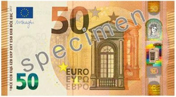 Le nouveau billet de 50 euros mis en circulation