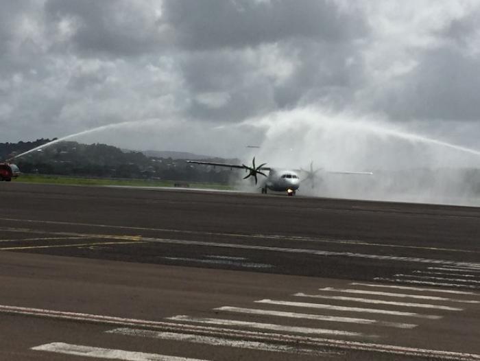 Le nouvel ATR 72-600 d'Air Antilles est arrivé en Martinique