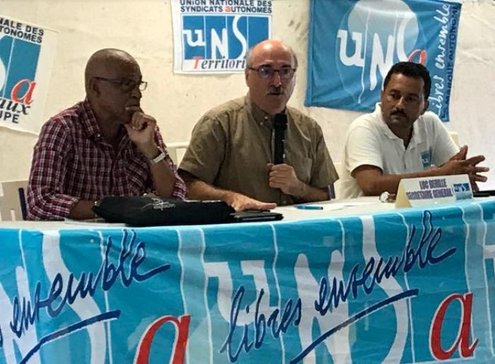 Le patron de l'UNSA en visite en Guadeloupe