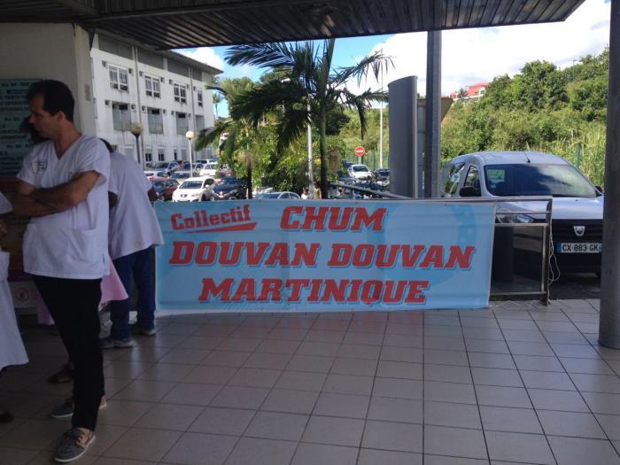 Le personnel du centre hospitalier de la Martinique mobilisé