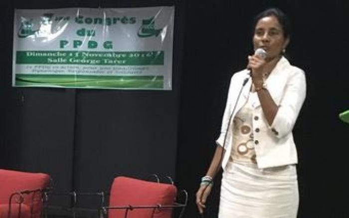 Le PPDG décide de maintenir la candidature de Sophie Péroumal aux législatives