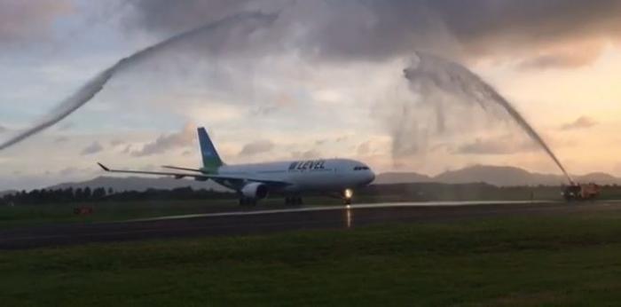 Le premier avion Level s'est posé en Martinique