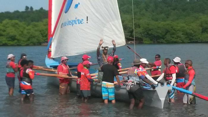 Le roi du Bénin en visite en Martinique