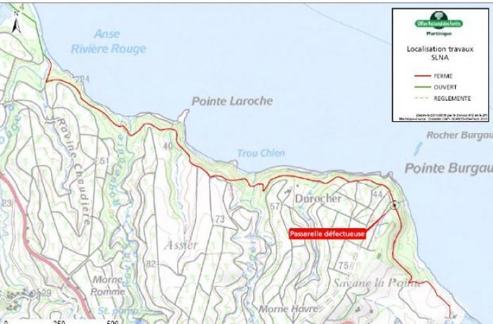 Le sentier littoral du Nord Atlantique est partiellement fermé