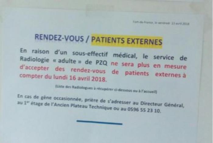 Le service radiologie de la Meynard n'accepte plus de rendez-vous externes