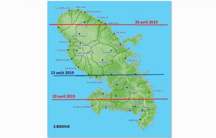 Le soleil sera au zénith de la Martinique deux jours de suite