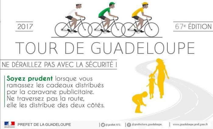 Le Tour cycliste de la Guadeloupe : la sécurité avant tout !