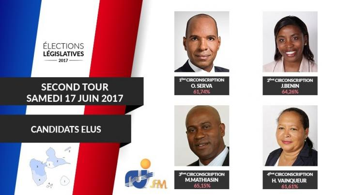 Les 4 candidats élus députés pour ces élections législatives 2017