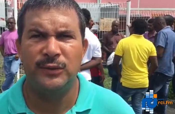 Les agents de Route de Guadeloupe mobilisés