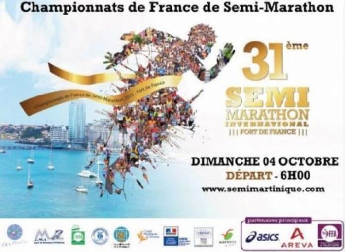 Les championnats de France de semi-marathon en Martinique